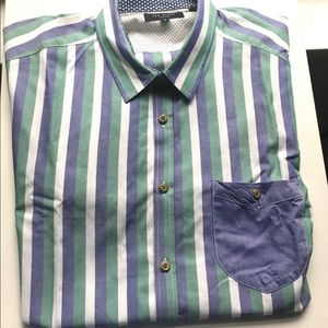 Ted Baker London Casual Button Down Shirt Size 5